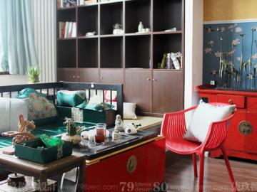 87平米新中式复式公寓
