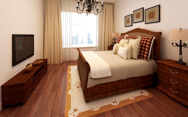 美式风格 两居 静安区装修 80后 小资 卧室图片来自实创装饰上海公司在100平简约清新美式小家的分享