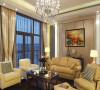 设计理念:客厅是交友娱乐中心,影视墙采用两边樱桃木饰面板内藏光管,中间是金花米黄大理石。再在客厅里放上两株植物,显得生机不少。客厅里的窗户窗套都采用波浪板做的造型。