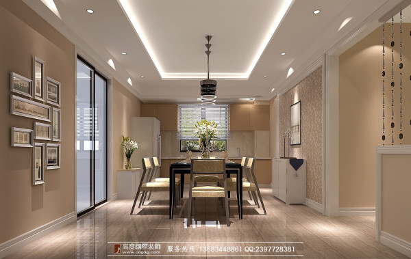 龙城一号190平米简洁大气温馨 成都高度国际别墅装修