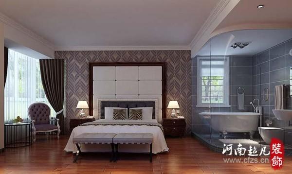 .卧室在简欧风格的体现繁简凛冽,对于欧式大床的装配,无时无刻不透露着强大的舒适感,然而为让整合空间更具和谐,设计师通过更加简易的铁艺简桌,突出它的简洁凝练。