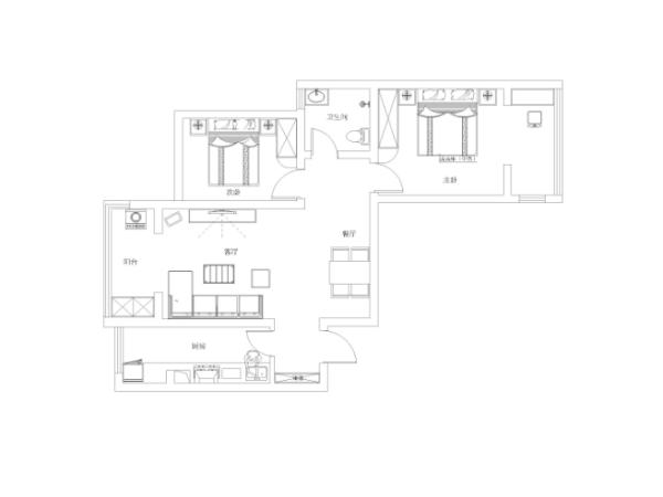 户型本身是正商蓝海港89平的装修设计,空间部分比较合理,入户之后是开发商预留的鞋柜位置,然后是厨房。