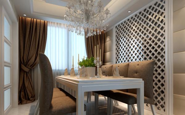 餐厅空间,以清新的调性来营造。利用北欧风格的一贯洁净作风来改造用餐的气氛,此范例的布置重点在于,餐桌上的杯盘陈列、灰白色桌椅的搭配以及色调的采用,如此气氛的铺排,叫人不爱恋也难!