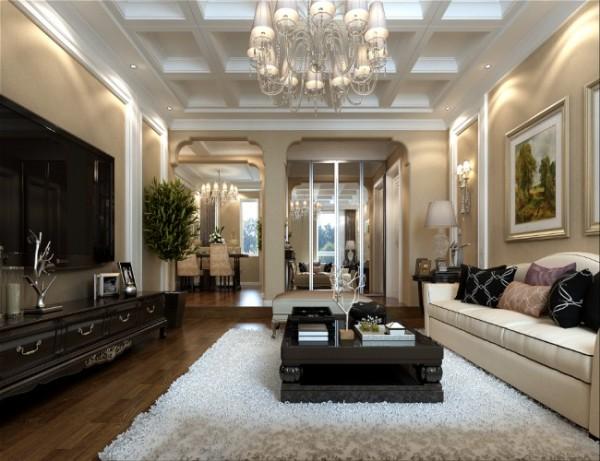 客厅搭配对比平衡的色彩,辉映精选家具和别致的灯光设计,融入体贴流畅的格局,将空间塑造出成一个生动的舞台。
