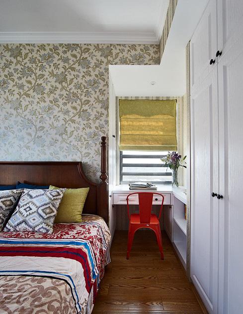 卧室图片来自家装大管家在醇情玛奇朵 90平美式温馨雅居的分享