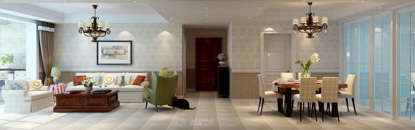 客厅与餐厅效果图