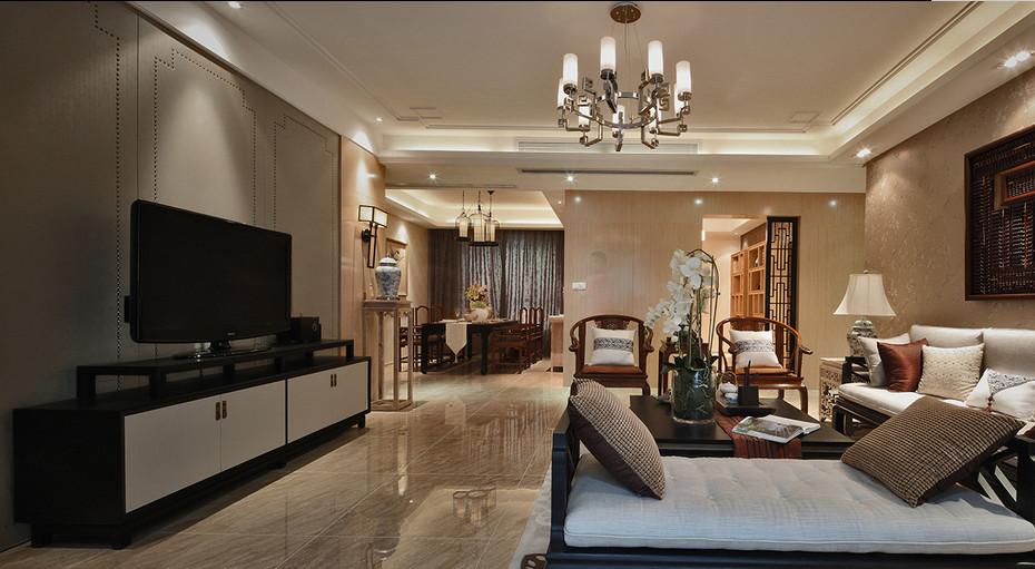 简约 欧式 田园 混搭 四居室 南湖国际 客厅图片来自尚品老木匠装饰在南湖国际-中式风格的分享