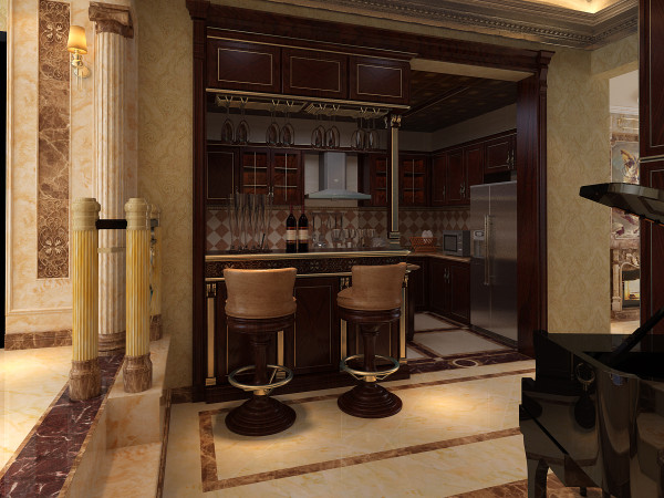 开放式厨房设计效果