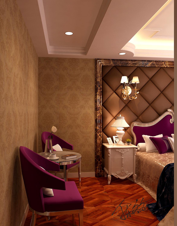 欧式 别墅 白领 80后 客厅 餐厅 卧室 休闲区 卧室图片来自百家装饰-小敬在碧桂园太阳城别墅装修效果图的分享