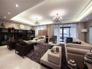 财富海景新中式风格实景奢华私宅