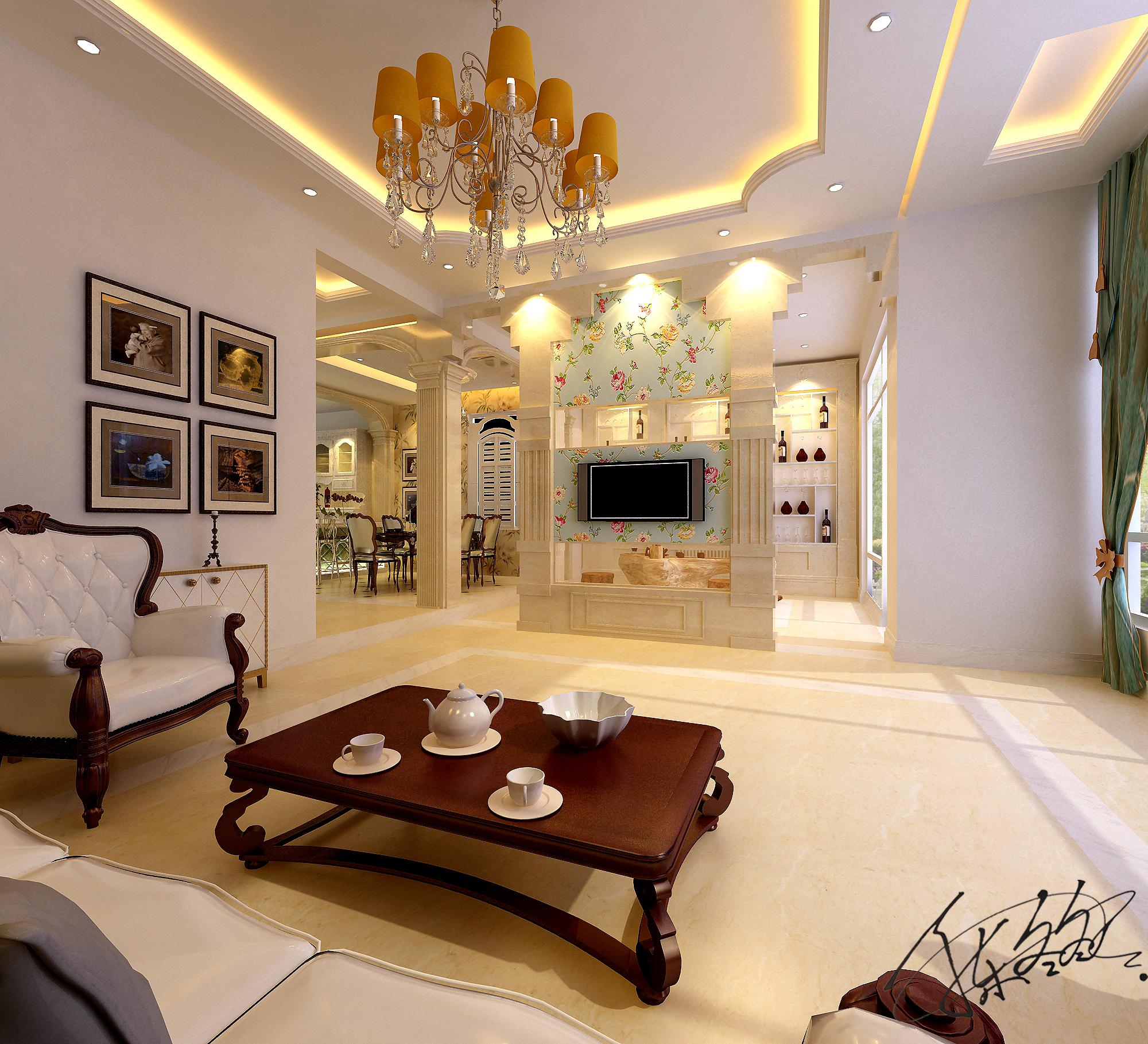 欧式 别墅 白领 80后 客厅 餐厅 卧室 休闲区 客厅图片来自百家装饰-小敬在碧桂园太阳城别墅装修效果图的分享
