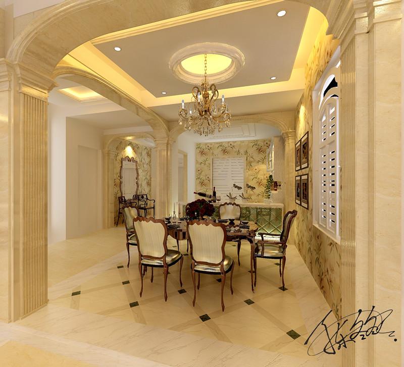 欧式 别墅 白领 80后 客厅 餐厅 卧室 休闲区 餐厅图片来自百家装饰-小敬在碧桂园太阳城别墅装修效果图的分享