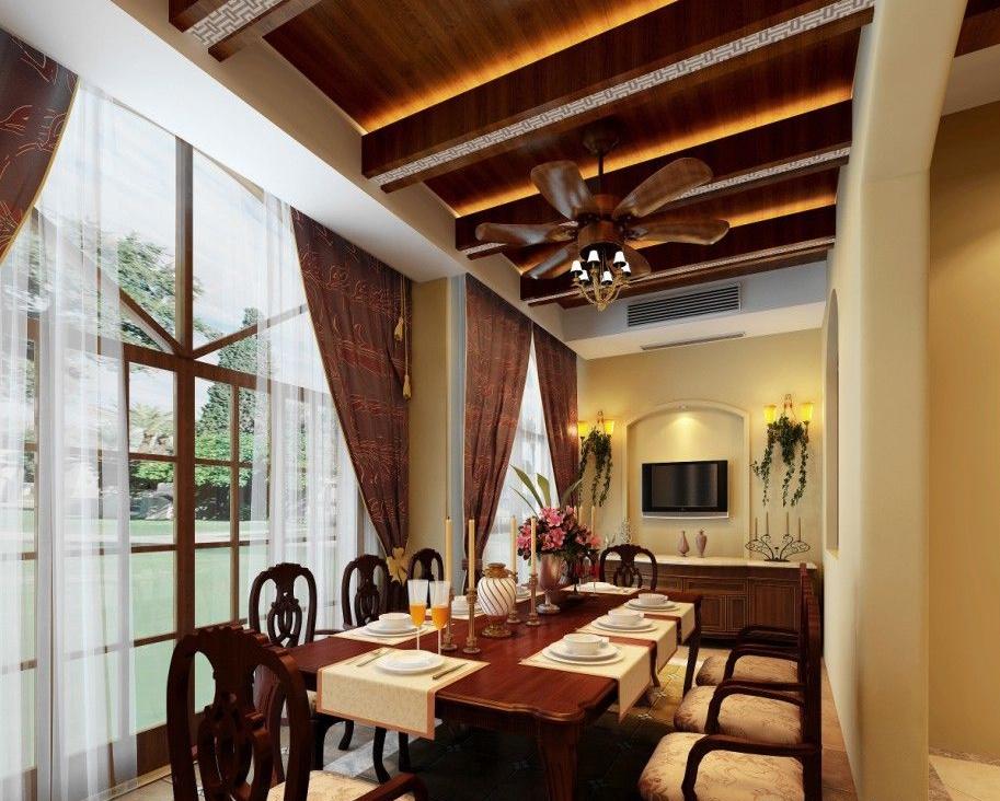 美式 新古典 混搭 别墅 旧房改造 餐厅图片来自孟庆莹在混合搭配远洋万和公馆别墅设计的分享