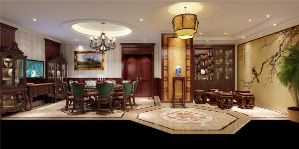 泗泾颐景园别墅户型装修美式风格设计方案展示——上海聚通装潢!