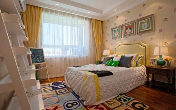 儿童房设计: 儿童房整体颜色的舒适度,让人马上想要看到这位美丽的小公主