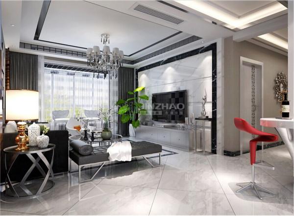 【今朝装饰www.xajzzs.cn】:西安紫薇永和坊-164平二居室--简约风格(本小区装修设计96套)