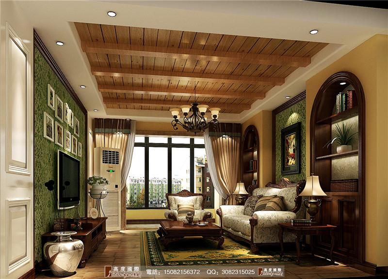 高度国际 客厅图片来自成都高端别墅装修瑞瑞在浪漫田园风-----成都高度国际的分享