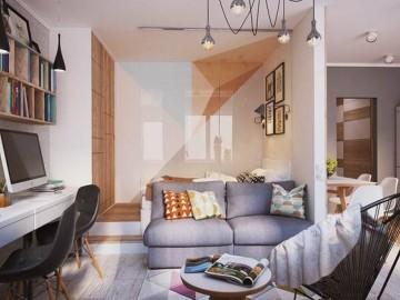 潍坊40平老房翻新现代时尚小公寓
