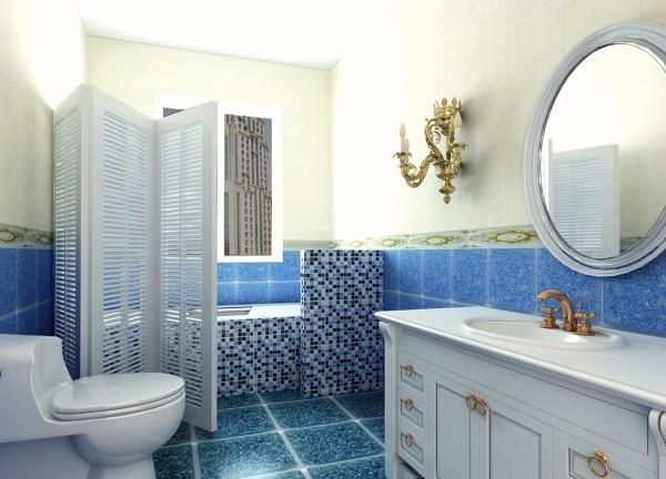 色植物与光滑的瓷砖在视觉上是绝配,给沉闷的卫生间带来生机和清新的空气。