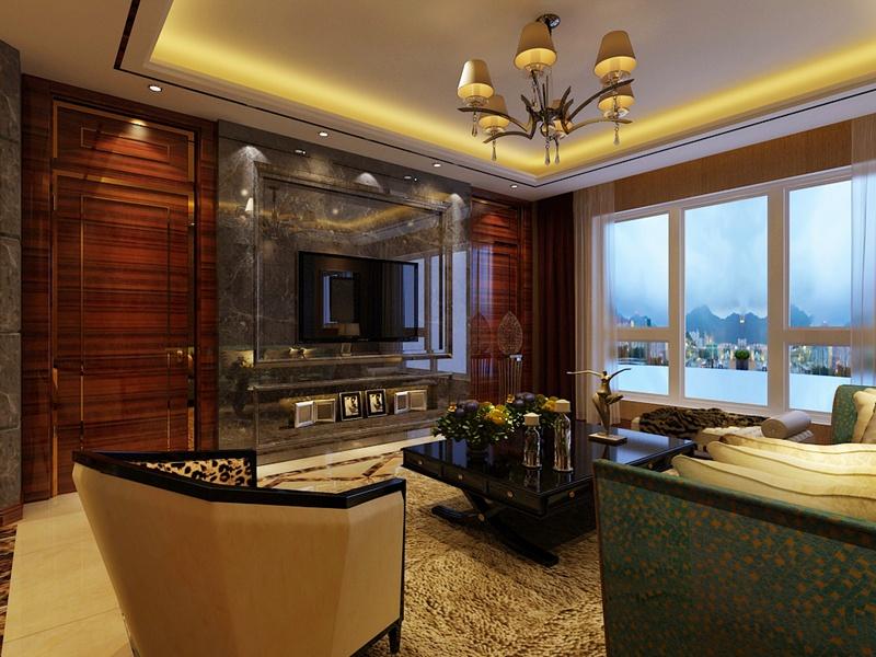 三居 港式 客厅图片来自沈阳新饰家装饰在丽湾尚品160平米 幸福从现在开始的分享