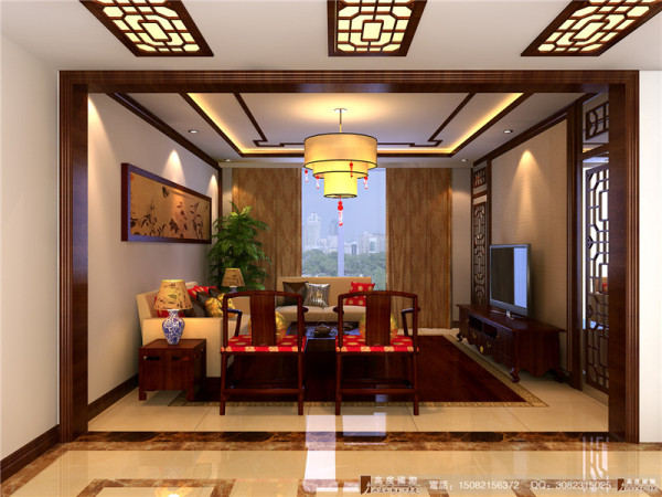 九龙仓御园客厅细节效果图--成都高度国际装饰