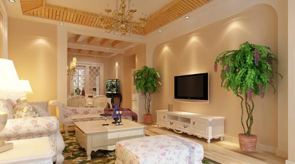 客厅手工沙发布料,悠闲、舒畅、自然的田园生活情趣.