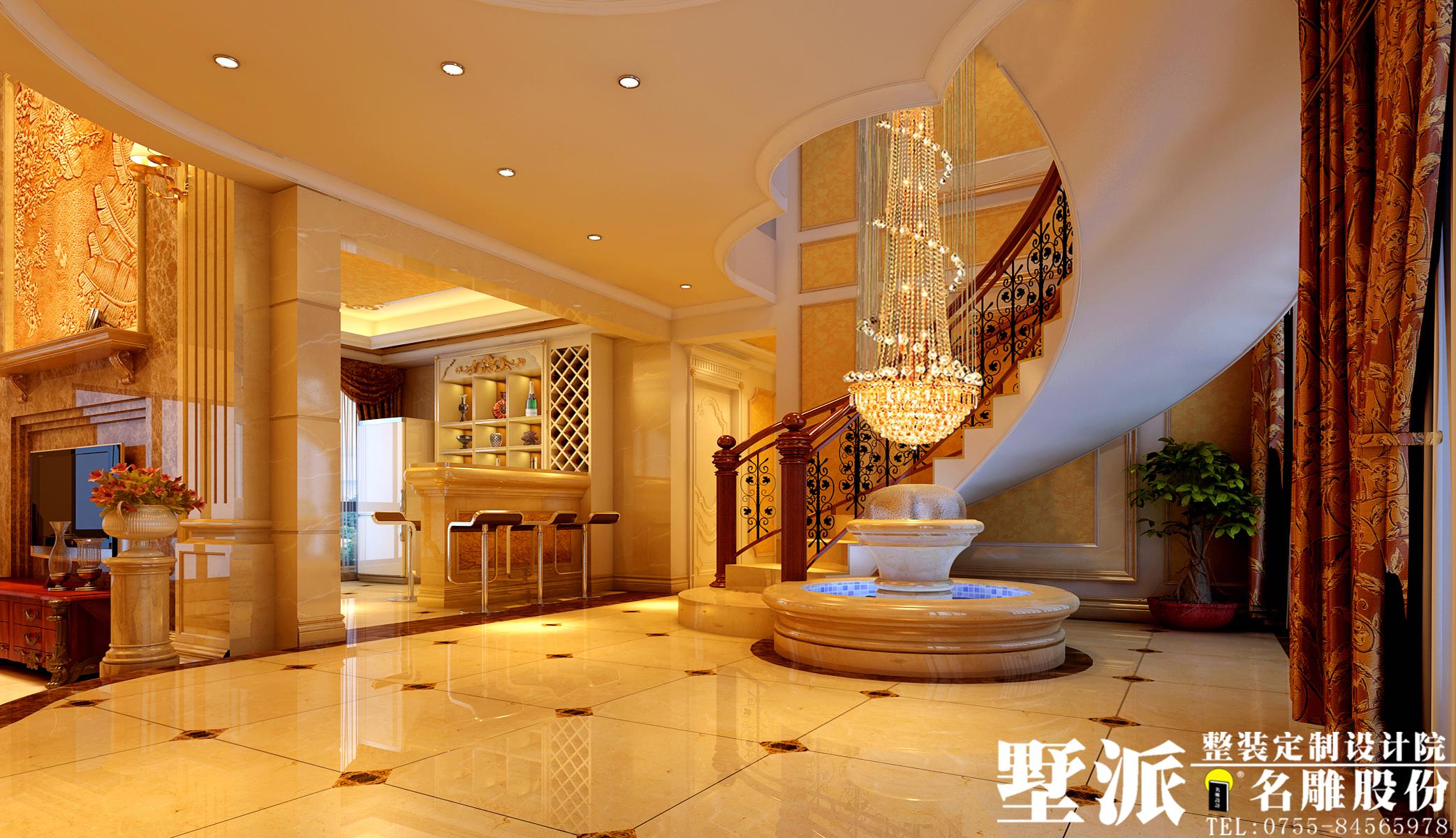 欧式 别墅 别墅装修 整装定制 高端装修 别墅设计 名雕装饰 楼梯图片来自广州名雕装饰在公园大地别墅整装定制设计的分享