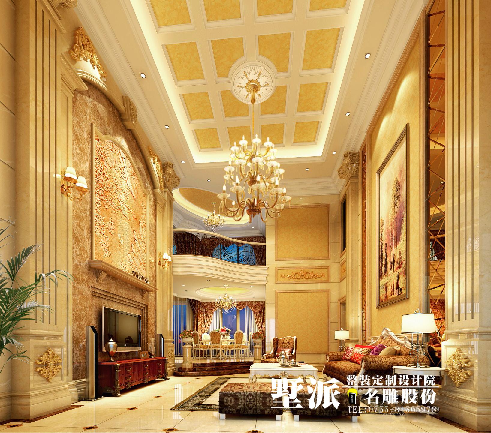 欧式 别墅 别墅装修 整装定制 高端装修 别墅设计 名雕装饰 客厅图片来自广州名雕装饰在公园大地别墅整装定制设计的分享