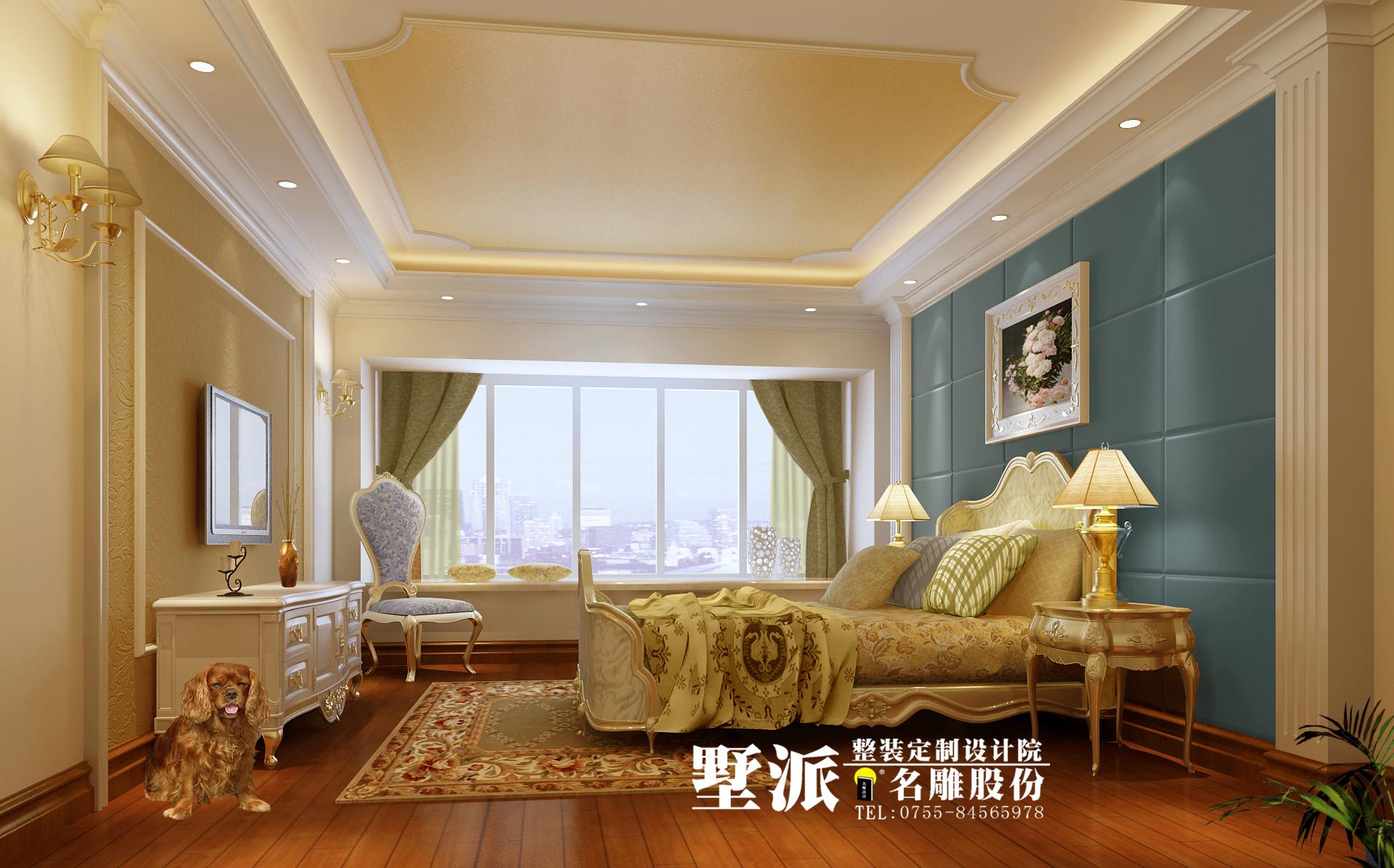 欧式 别墅 别墅装修 整装定制 高端装修 别墅设计 名雕装饰 卧室图片来自广州名雕装饰在公园大地别墅整装定制设计的分享