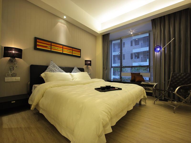 简约 现代 三居 卧室图片来自半岛e家在145平现代简约案例的分享