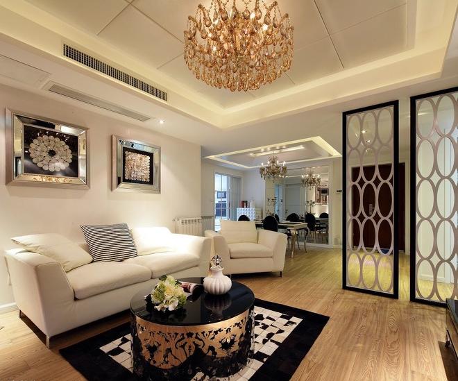 客厅图片来自超凡装饰邓赛威在正商蓝海港湾130平装修设计的分享