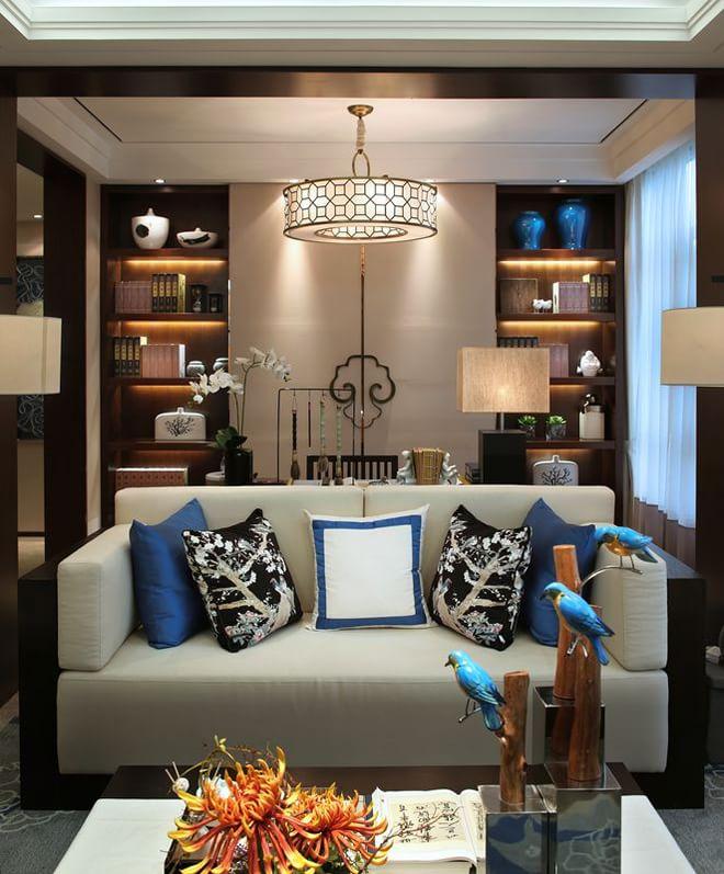 日升装饰 客厅图片来自装修设计芳芳在127平新中式风格的分享