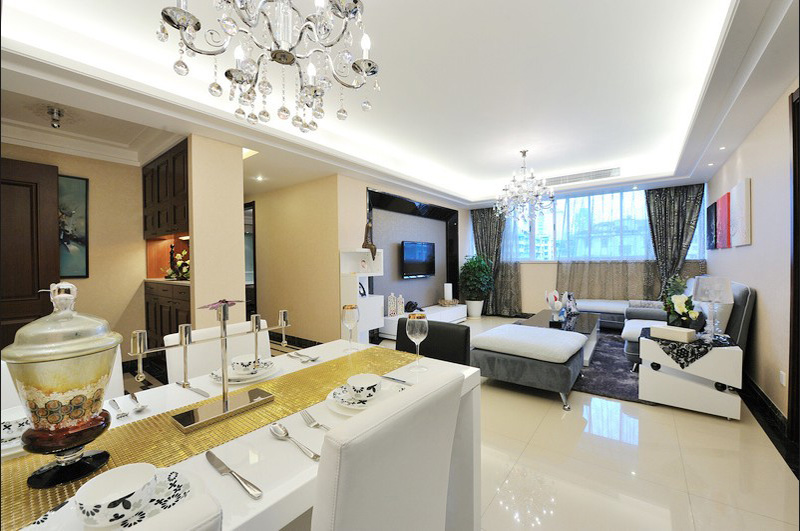 客厅图片来自半岛e家在110套三简约风格的分享