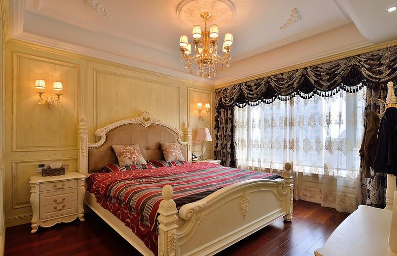 卧室图片来自家装大管家在奢华大气不输别墅 150平现代欧式的分享