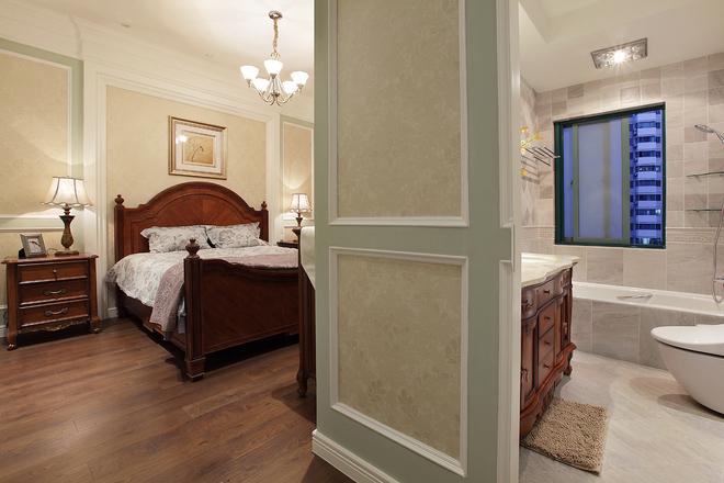 日升装饰 卧室图片来自装修设计芳芳在172平中式与美式混搭的分享