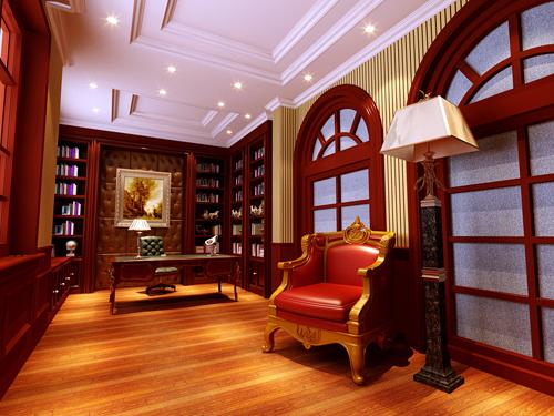 欧式 新古典欧式 别墅 书房图片来自孙文强在森林半岛新古典欧式的分享