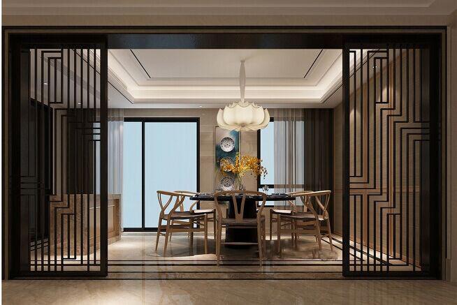 中式 金地翔悦天 137平 西安装修 实创 餐厅图片来自实创小莹在【实创装饰】金地137平中式风格的分享