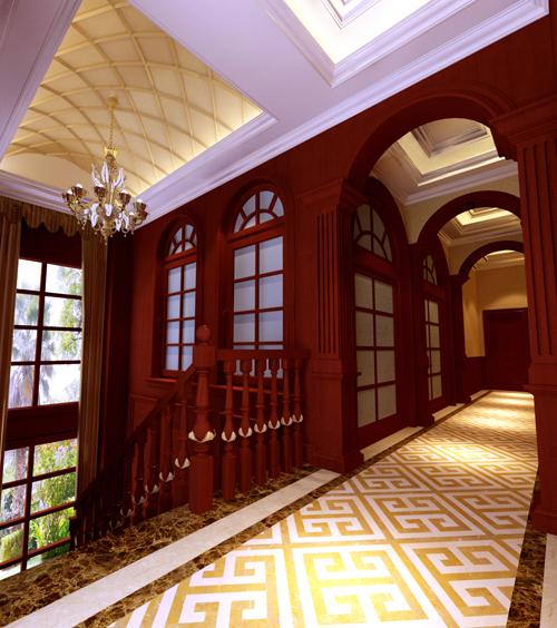 欧式 新古典欧式 别墅 楼梯图片来自孙文强在森林半岛新古典欧式的分享