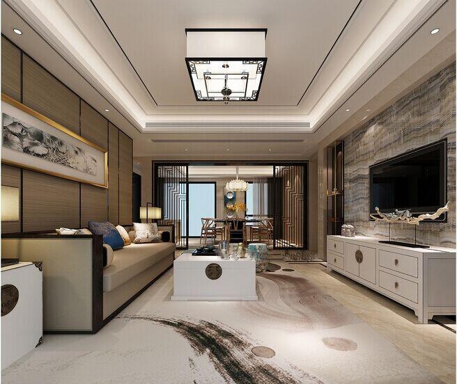 中式 金地翔悦天 137平 西安装修 实创 客厅图片来自实创小莹在【实创装饰】金地137平中式风格的分享