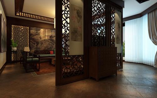 中式 别墅 简约 玄关图片来自孙文强在新郑自建别墅的分享
