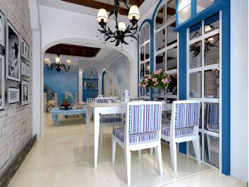 天骄俊园,地中海时尚装,三居室