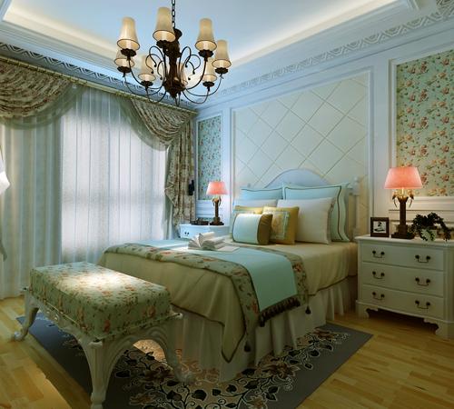 简约 田园 三居 永威翡翠城 卧室图片来自孙文强在永威翡翠城160平法式田园的分享