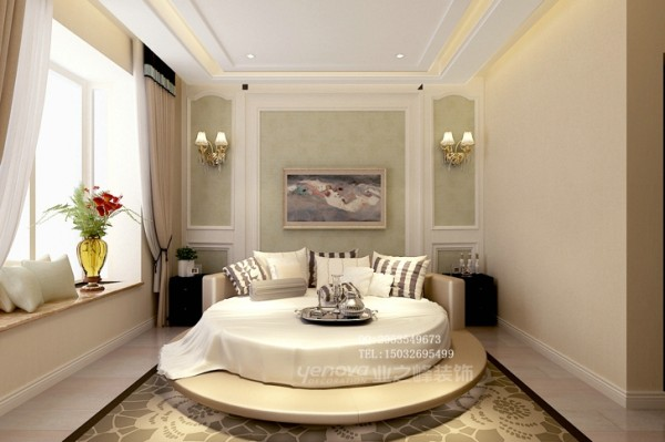 盛邦大都会140平米后奢卧室装修效果图