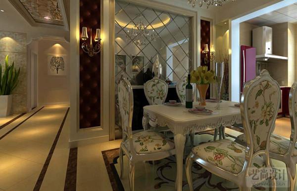 盛润小城之春90平方两室两厅户型,餐厅装修效果图