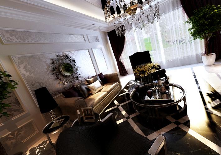 别墅 客厅图片来自百家装饰小王在金地檀郡180平的分享