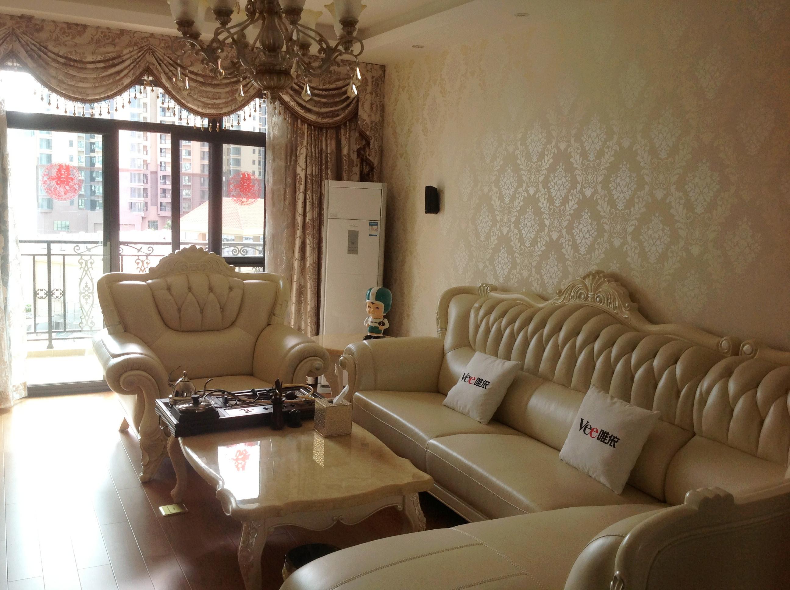 半包 简欧 三居 客厅图片来自国安居装饰在适合自已的就是最温暖的家.的分享