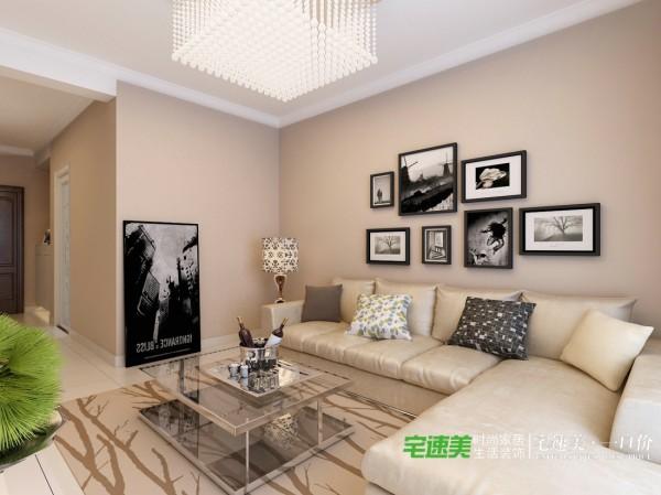 龙凤佳苑两室两厅85平现代风格装修效果图By芜湖宅速美装饰