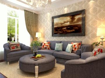 101平两居室简欧风格装修实景