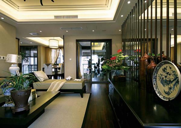 明珠城 160平米 现代中式四室