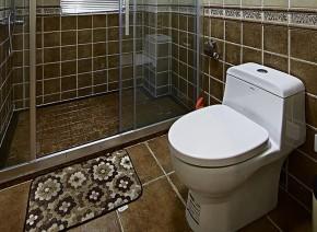 美式 小清新 浅色系 90后 婚房 卫生间图片来自佰辰生活装饰在89方温馨美式90后婚房的分享